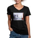 WTD, Holiday '07 Women's V-Neck Dark T-Shirt