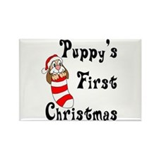 Puppy's First Christmas Rectangle Magnet (10 pack)