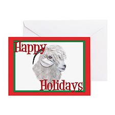 Angora Goat Holiday Greeting Card
