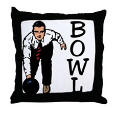 Bowling Fan Throw Pillow