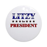 LITZY for president Ornament (Round)