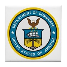 Department Of Commerce<BR> Tile Coaster