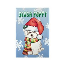 Holiday Maltese Rectangle Magnet