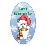 Holiday Maltese Oval Decal