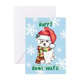 Holiday Maltese Greeting Card