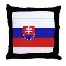 Slovak Flag Throw Pillow