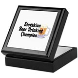 Slovakian Beer Drinking Champ Keepsake Box