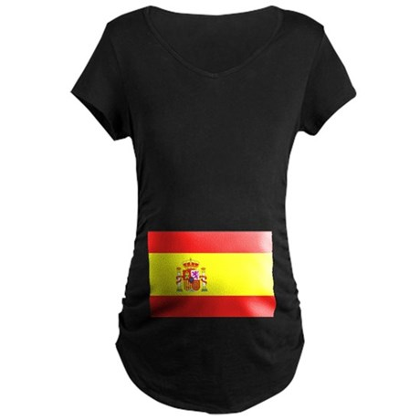 Spanish Flag Maternity Dark T-Shirt