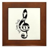 Here Comes Treble Framed Tile
