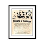 Gunfight at Tombstone Framed Panel Print