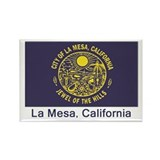 La Mesa CA Flag Rectangle Magnet (10 pack)