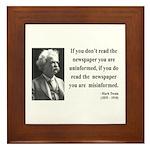 Mark Twain 40 Framed Tile
