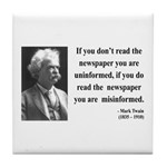 Mark Twain 40 Tile Coaster