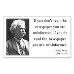 Mark Twain 40 Rectangle Sticker