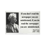 Mark Twain 40 Rectangle Magnet (10 pack)