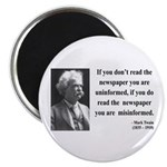 Mark Twain 40 Magnet