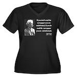 Mark Twain 40 Women's Plus Size V-Neck Dark T-Shir