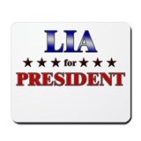 LIA for president Mousepad