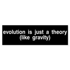 Evolution is a theory Bumper Bumper Sticker