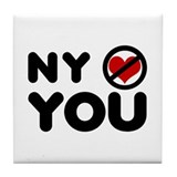 NY No Love Tile Coaster