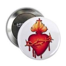 "Sacred Heart (only) 2.25"" Button (10 pack)"