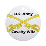 US Army Cav Wife Ornament (Round)