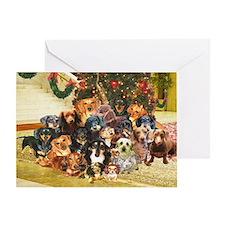 A Dachshund Family Christmas Greeting Card