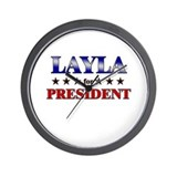 LAYLA for president Wall Clock