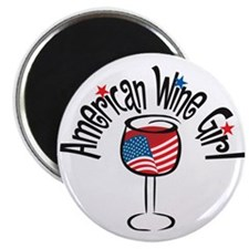 "American Wine Girl 2.25"" Magnet (10 pack)"