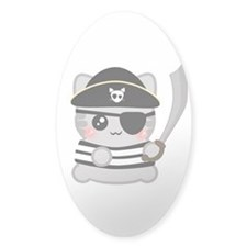 Pirate Neko Oval Decal