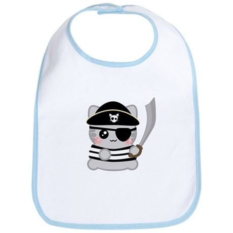 Pirate Neko Bib
