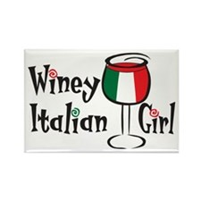 Winey Italian Girl Rectangle Magnet