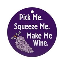 Make Me Wine Ornament (Round)