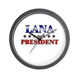 LANA for president Wall Clock