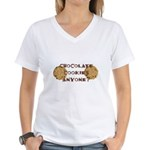 ChocolateCookies? Women's V-Neck T-Shirt