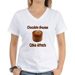 Chocolate Mousse Cake Attack Women's V-Neck T-Shir