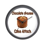 Chocolate Mousse Cake Attack Wall Clock