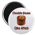 Chocolate Mousse Cake Attack Magnet
