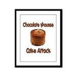 Chocolate Mousse Cake Attack Framed Panel Print