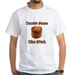 Chocolate Mousse Cake Attack White T-Shirt