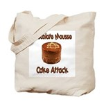 Chocolate Mousse Cake Attack Tote Bag