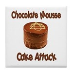 Chocolate Mousse Cake Attack Tile Coaster