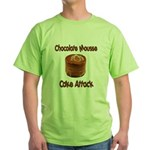 Chocolate Mousse Cake Attack Green T-Shirt