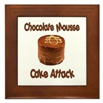 Chocolate Mousse Cake Attack Framed Tile