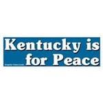 Kentucky for Peace Bumper Sticker