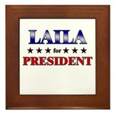 LAILA for president Framed Tile