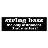 String Bass Bumper Car Sticker