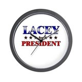 LACEY for president Wall Clock