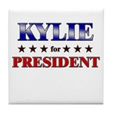 KYLIE for president Tile Coaster