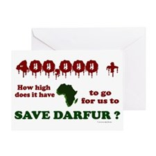 400,000+ (Darfur) 1 Greeting Card
